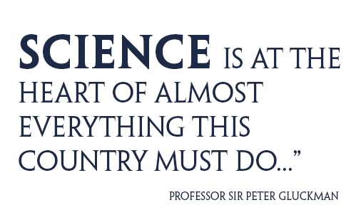 Science is at the heart of almost everything this country must do...